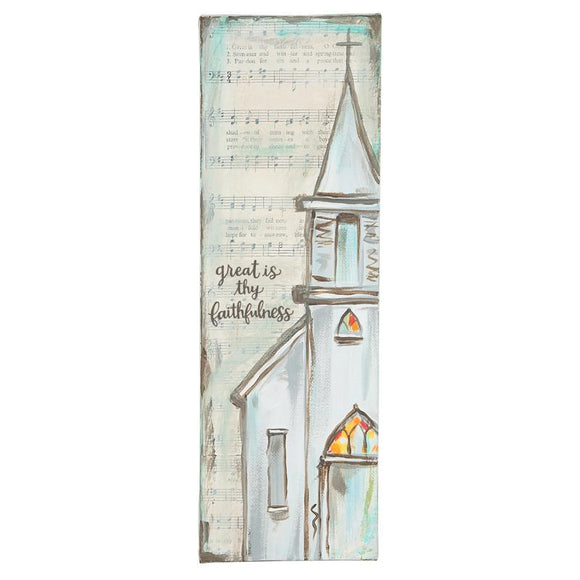 Great is thy Faithfulness Canvas-Wall Decor-Quinn's Mercantile