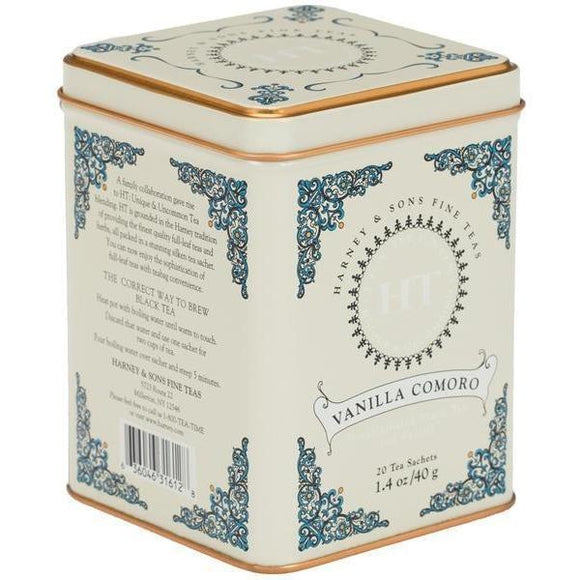 Harney and Sons Teas-Foodie-Vanilla Comoro - Decaf-Quinn's Mercantile