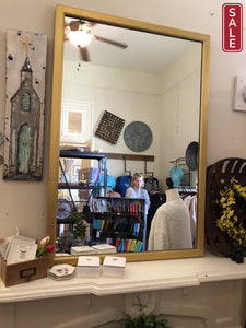 Large Gold Mirror | Quinn's Mercantile-Vintage Finds-Quinn's Mercantile