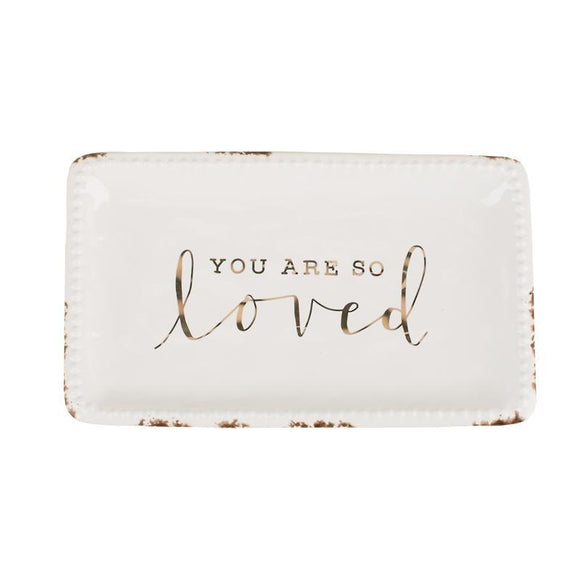You Are So Loved Trinket Tray-Gift-Quinn's Mercantile