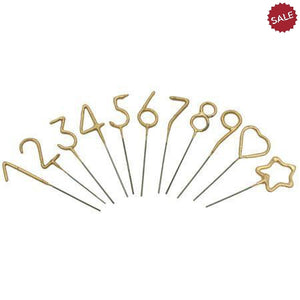 Mini Gold Sparkler Cake Toppers-Party Supplies-Quinn's Mercantile