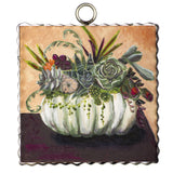 Tin Framed Fall Prints-For the Home-Pumpkin and Succulents 6x6-a-Quinn's Mercantile