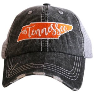 Tennessee Trucker Caps-Gift-Layered TN Black-Quinn's Mercantile