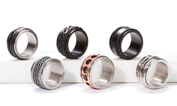 Spinning Rings-Men's Gifts-Black 8-Quinn's Mercantile