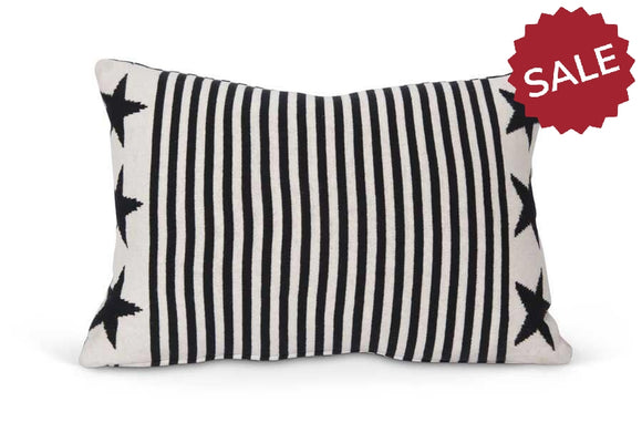 Stars and Stripes Knit Pillow-Textiles-Quinn's Mercantile