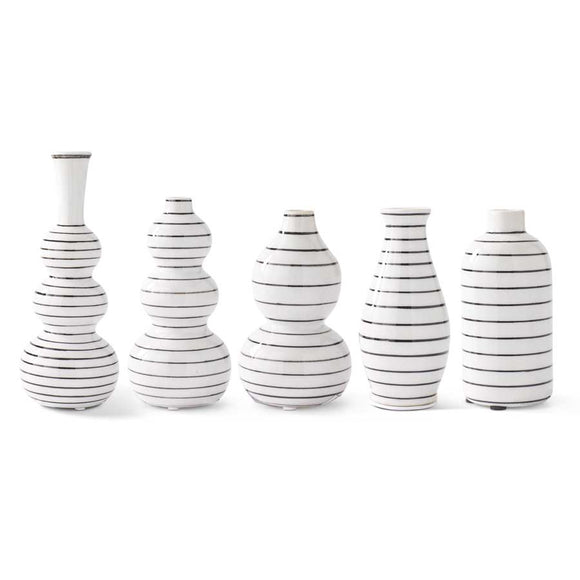 Striped Bud Vases-For the Home-Quinn's Mercantile