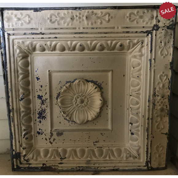 Tin Ceiling Medallion-vintage finds-Quinn's Mercantile