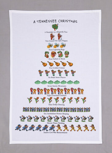 Tennessee Christmas Kitchen Towel-christmas-Quinn's Mercantile