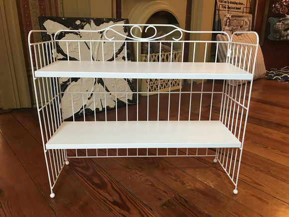 White Wood and Metal Rack-For the Home-Quinn's Mercantile