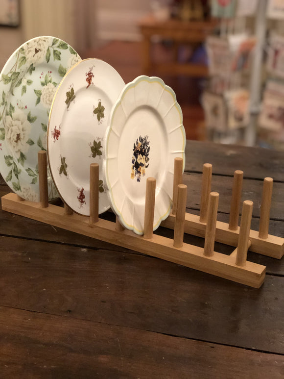 Wooden Plate Rack | Quinn's Mercantile-Home Decor-Quinn's Mercantile