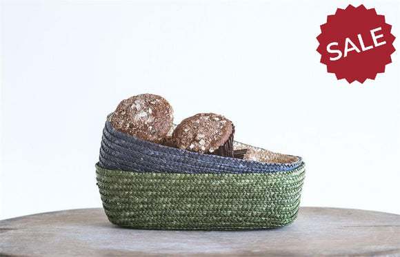 Woven Straw Baskets-kitchen-Quinn's Mercantile