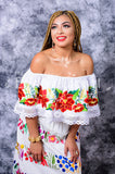 Gorgeous White Mexican Off Shoulder Peasant Blouse Top Embroidered