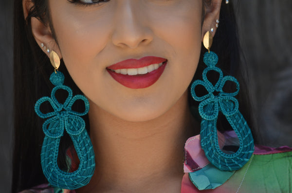 Beautiful Handmade Mexican Blue Earrings