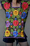 Gorgeous Machine Embroidered Multicolor Blouse Top
