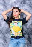 Gorgeous Hand Painted Frida Khalo T shirt with 3 D Details