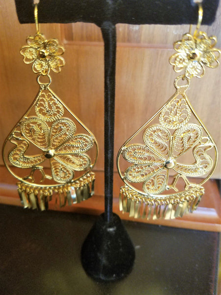 Mexican Filigree Earrings Handmade