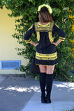 Black and Yellow San Antonino Mini dress From Mexico