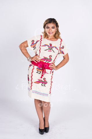 Sexy Traditional Hand Woven & Embroidered Chinantec Mexican Huipil Hippie Boho