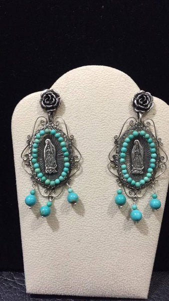 Mexican Sterling Silver Earrings Handmade by Carlos Gutierrez