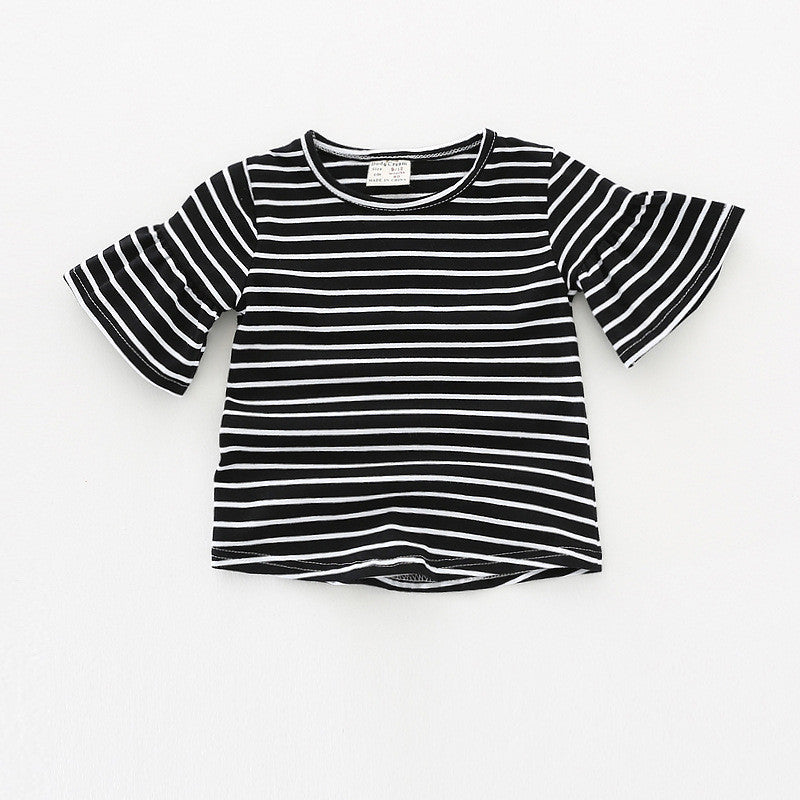 Ready Stock   The Angel Sleeve Stripes Top (Black) – My Growing Seed f6ab42dc9