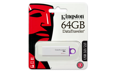 Kingston - DataTraveler G4 64GB USB 3.0 - Memorias USB Lleida - D-Logy Informatic Solutions