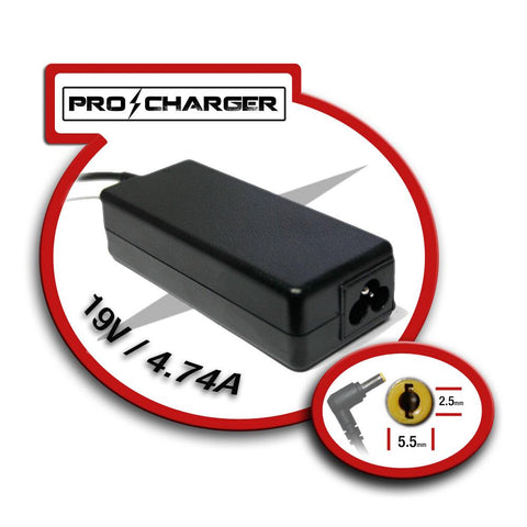 Pro Charger - 19V 4.74A 5.5mm x 2.5mm 90W (Toshiba)