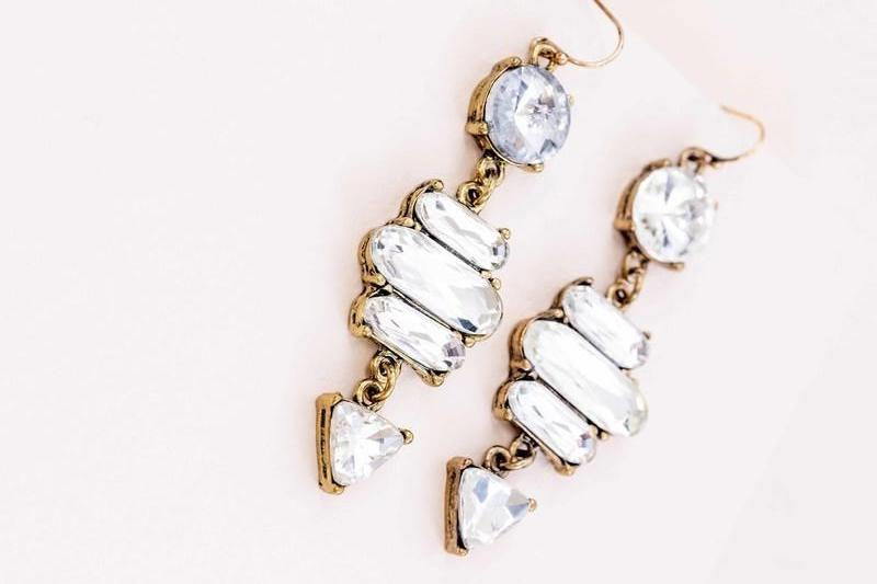 Crystal Hook Earrings