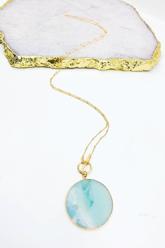 Mint Toggle Necklace