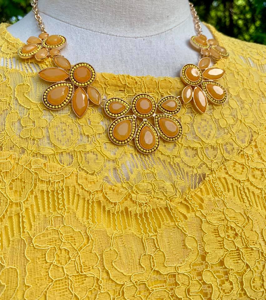 Vintage Cluster Necklace