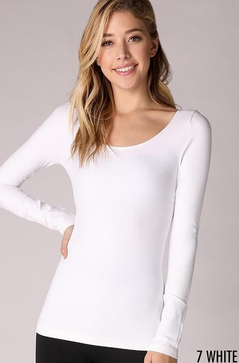 Scoop Long Sleeve Seamless Top