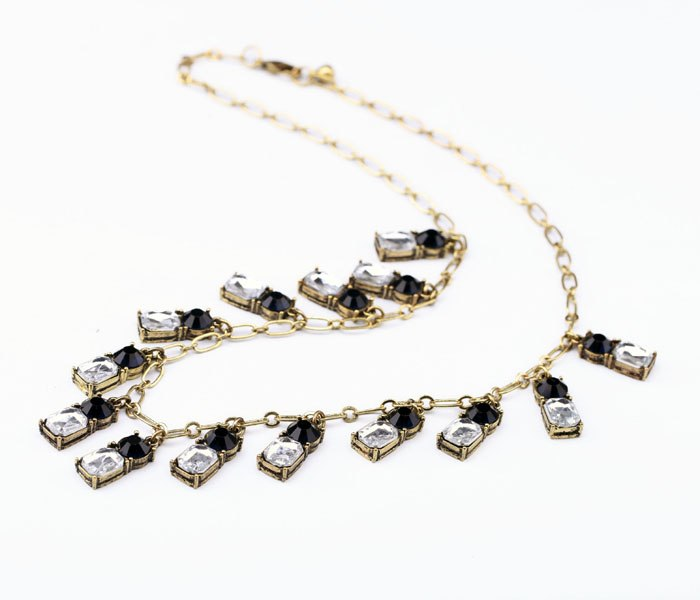 Navy Crystal Necklace