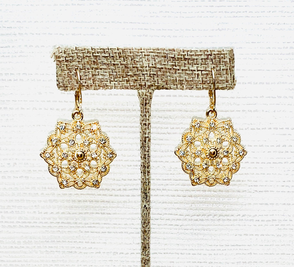 Filigree Crystal Earring