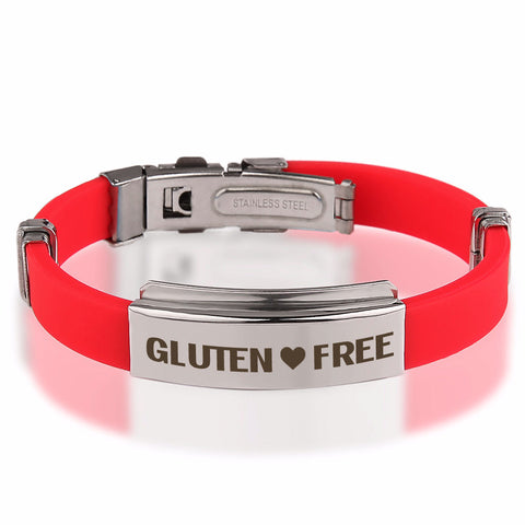 Official GLUTEN ❤ FREE Stainless Steel Bracelets
