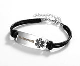 Gluten ❤ Free Medical Leather Bracelet
