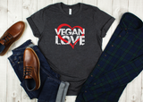 VEGAN LOVE - Unisex Jersey Short Sleeve Tee