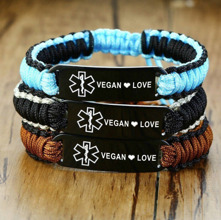 Sports Medical ID Bracelet - Vegan  ❤ Love