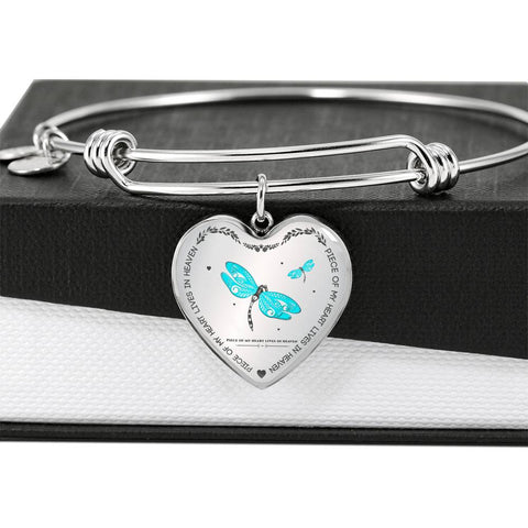 Piece Of My Heart Lives In Heaven - Heart Bracelet
