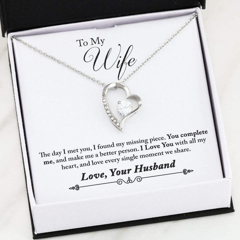To My Wife - Forever Love Necklace - Missing Piece