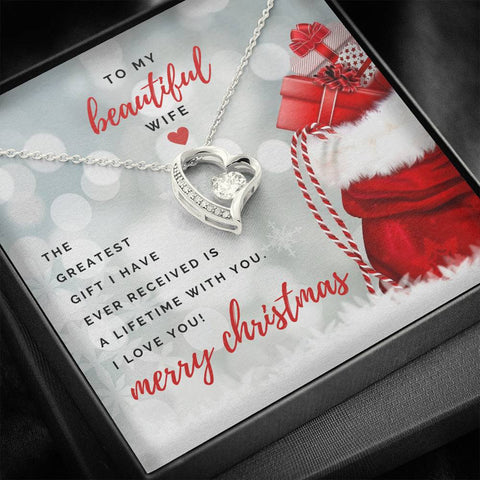 To my beautiful wife - Merry Christmas , forever heart