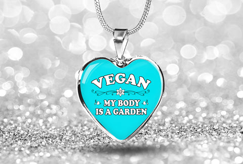 Luxury Vegan Heart Necklace