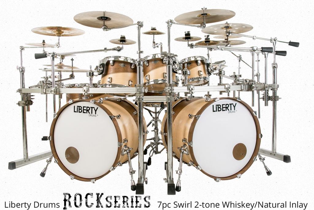 LIBERTY DRUMS ROCK SERIES DRUM SET DEMO by VINEETH DAVID