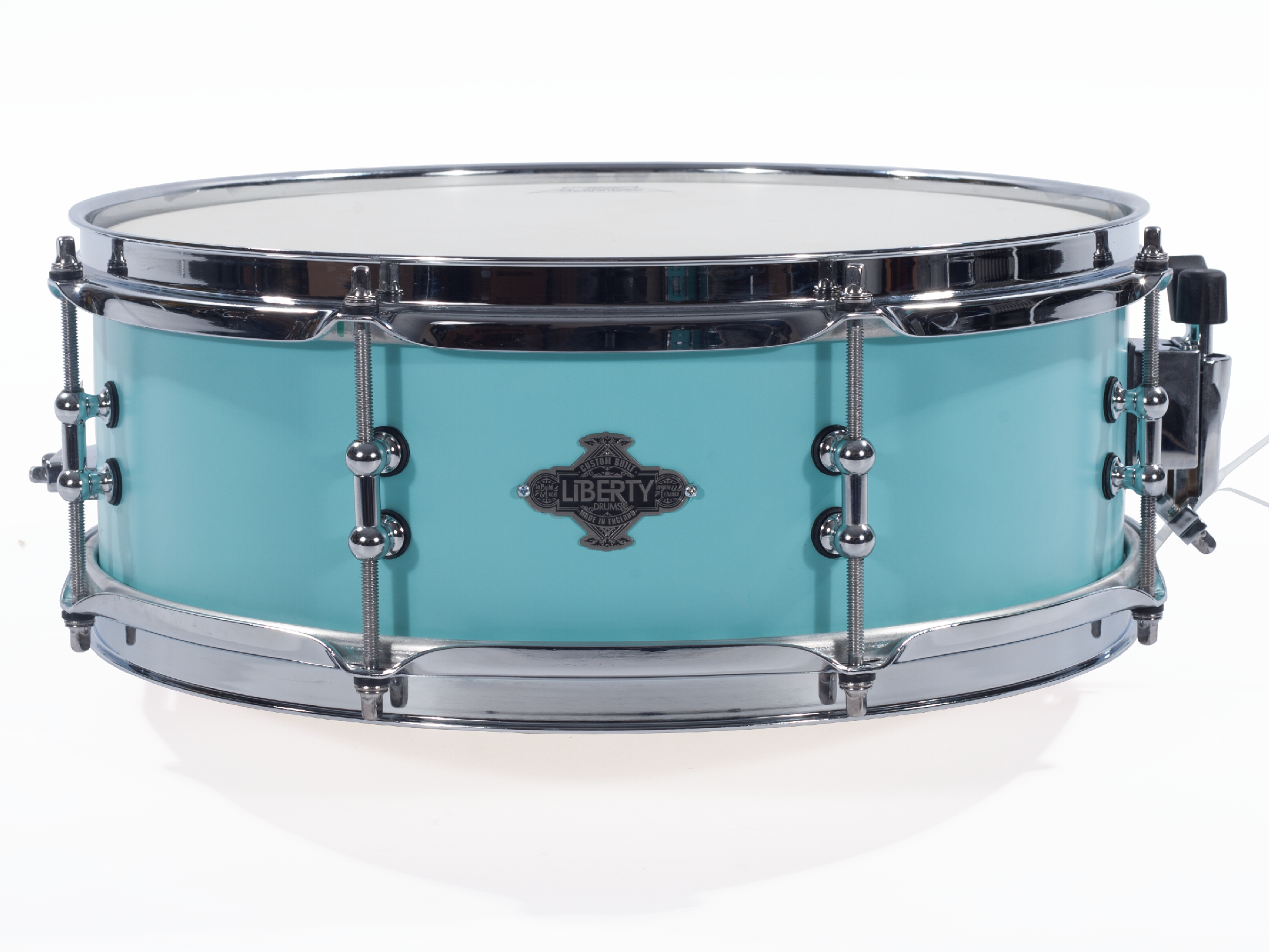 Unique Snares Series - 14x5 Seafoam Green Kick Snare Drum