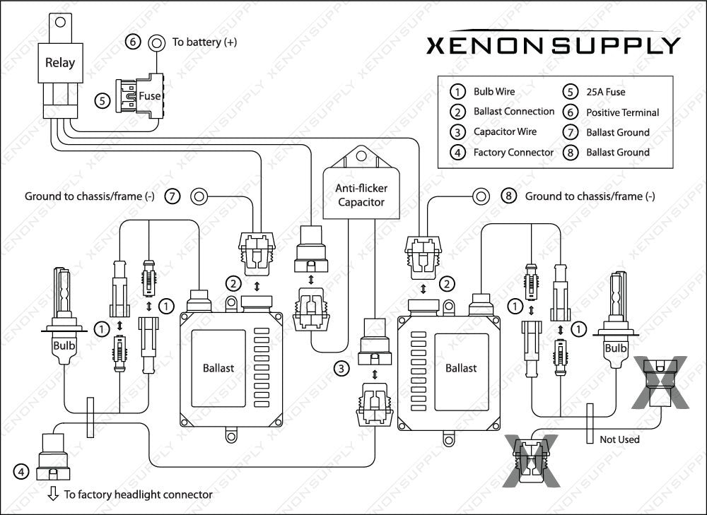 Accessory Wiring Harness Layout w Capacitor_db1e7d48 f0f0 49af b05d 112a9768a842?1387631234563363998 daytime running lights explained xenonsupply xs corporation 9003 headlight bulb wiring diagram at soozxer.org