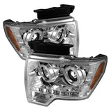 Ford F150 09-14 Projector Headlights - Halogen Model Only v2