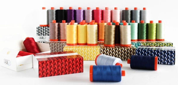 Aurifil thread, quilting thread