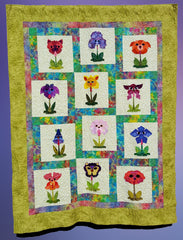 Bloomin Dog Quilt, dogs, animal quilts