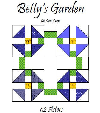 Betty's Garden Pattern 2 - Asters  Pattern - StoryQuilts.com