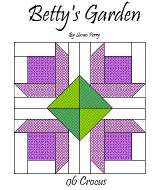 Betty's Garden Pattern 6 - Crocus  Pattern - StoryQuilts.com