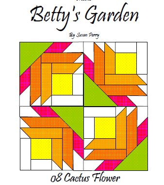 Betty's Garden Pattern 8 - Cactus  Pattern - StoryQuilts.com