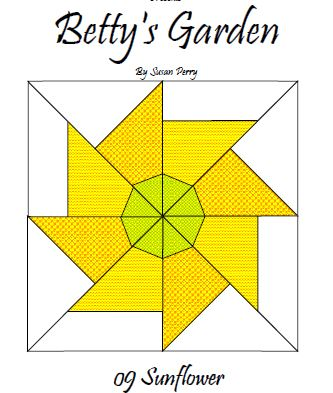 Betty's Garden Pattern 9 - Sunflower  Pattern - StoryQuilts.com
